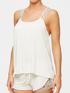 Chantilly Bridal Racerback Cami with Silk Trim