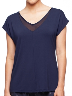 Park Avenue Dolman Short Sleeve Top with Mesh Insert