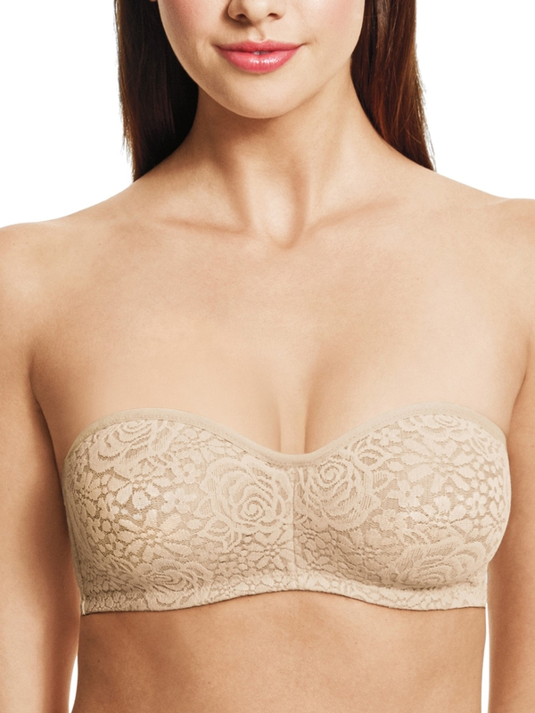 Halo Lace Unlined Strapless Bra