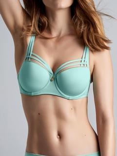 Dame De Paris Balcony Bra in Tiffany Blue