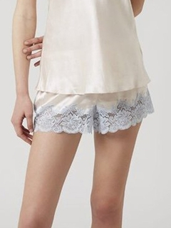 Lace Trim Silk Tap Short