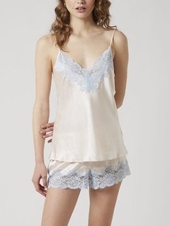 Lace Trim Silk Camisole