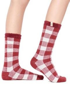 Vanna Check Fleece Lined Socks