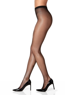Sheer Waist Fishnet Tights