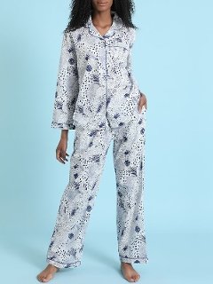 Printed Cotton Pajama Set LS