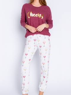 Wine Time Long Sleeve Pajama Set