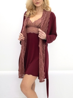 Luxury Home Wear Lace Trim Robe